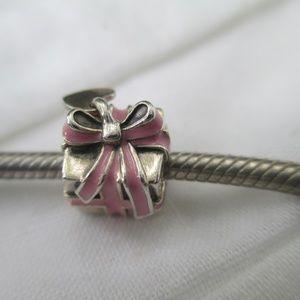 Authentic Pandora charm pink present charm